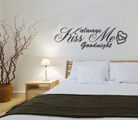 ★always kiss me goodnight ★ Wall Art Sticker Decal Mural★