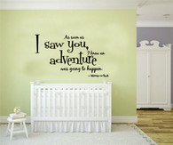 ★as soon as i saw you i knew★ Wall Art Sticker Decal Mural★