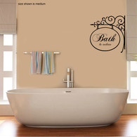 ★bath in toilette French r★ Wall Art Sticker Decal Mural★