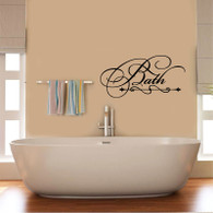 ★bath wallart scroll★ Wall Art Sticker Decal Mural★