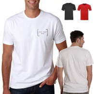 cheap Custom T Shirt Printing Personalised breast pocket size ideal for company's