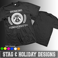 University Drinking team  perfect for stag holiday tshirt