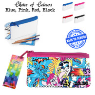 new pencil case 2015 blue pink black red back to school mashup pony ponies personalised