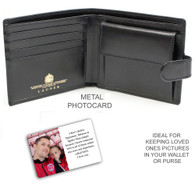 Fathers Wallet Metal Photo card x1 Super hero