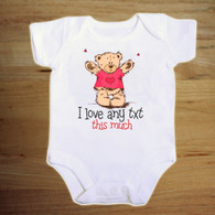 I love  Personalised funny baby vest