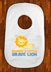 personalised brave little lion bib