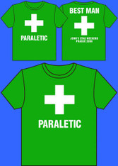 Paraletic stag holiday tshirt