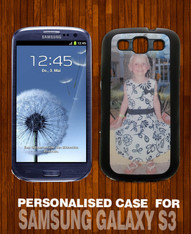 Samsung Galaxy S3 Black Photo Case Personalised