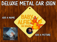 Dragon personalised Car Sign Baby on board