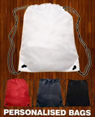 School Gym Drawstring Bag Personalised