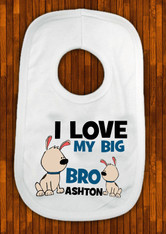 I love my big brother Baby bib