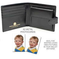 Wallet Purse Metal Photo card x2