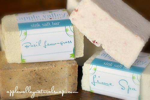 HALF Sized Sink Salt Bars by Apple Valley Natural Soap