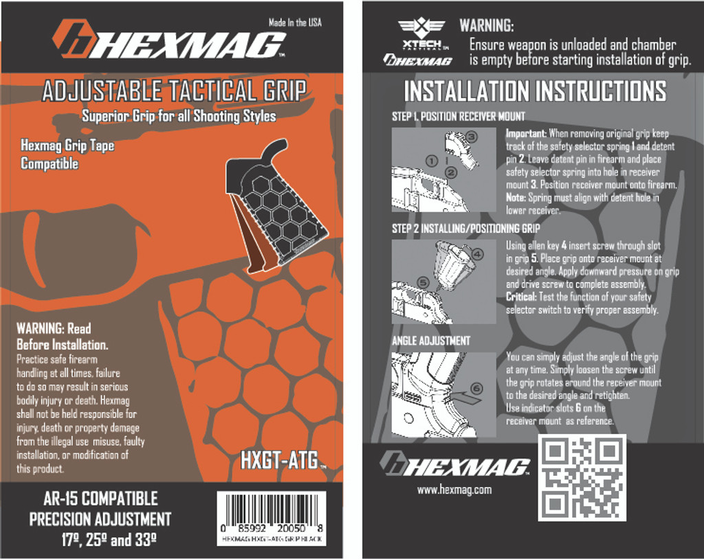 Hexmag AR-15 Adjustable Pistol Grip