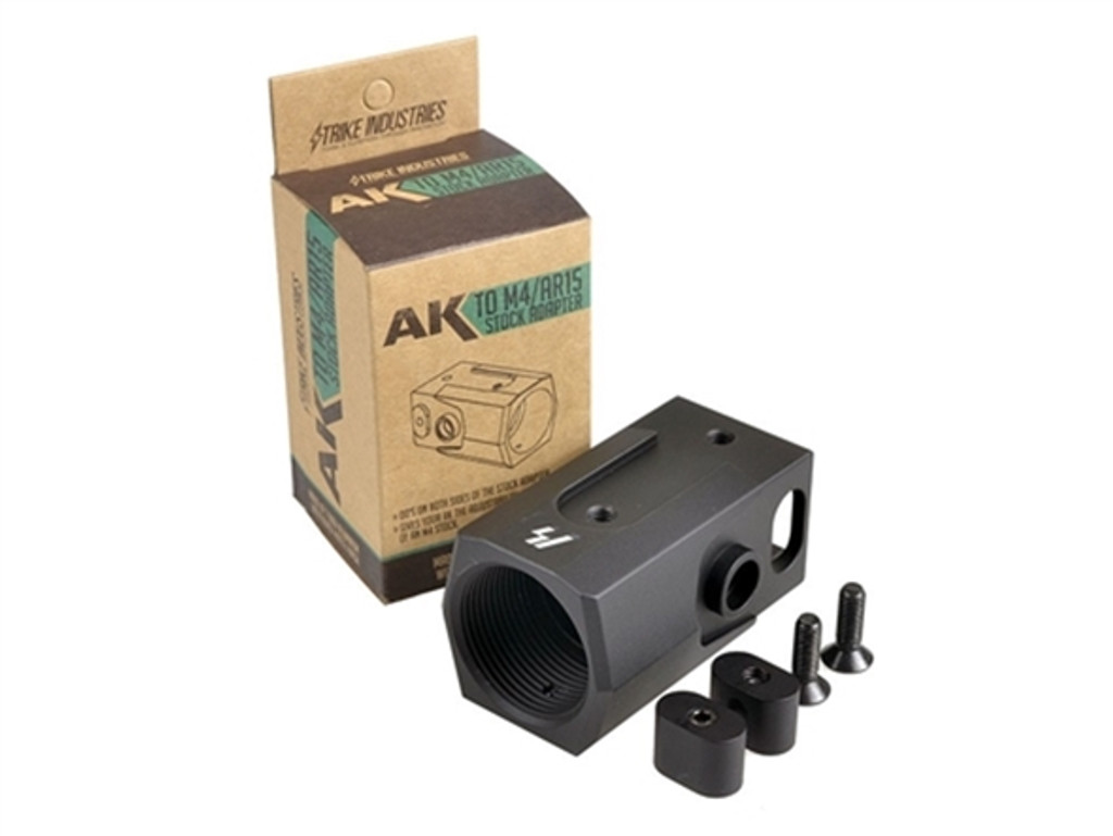 Strike Industries AK to AR Stock Buffer Tube Adapter AK-47 AR-15 AK-SA 700598350463