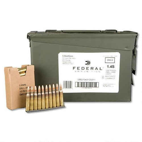 Federal XM193 5.56x45mm 55gr Ammunition 420rds w/ Ammo Can XM193LC1AC1