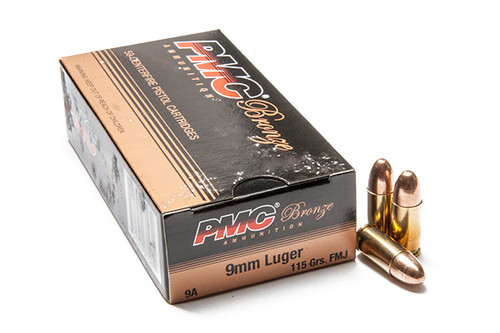 PMC Bronze 9mm 115gr FMJ 500 Rounds Ammunition 9A