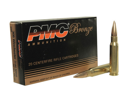PMC Bronze 500 Rounds .308 WIN 147gr FMJ Ammunition 308B