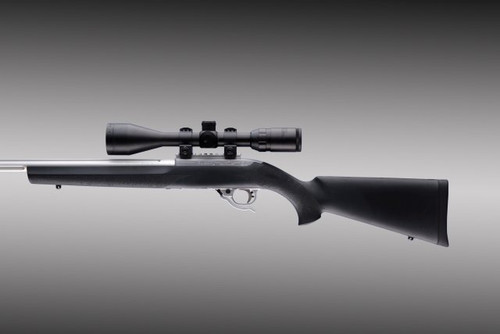 "Hogue Ruger 10/22 .920"" Diameter Barrel Black Rubber OverMolded Stock .22LR 22010 0743108220108 Bull Barrel .22 Long Rifle"