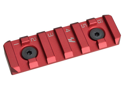Strike Industries Link Rail Section 6 Slot KeyMod M-LOK Six RED Link-RS-6-RED 708747544718 Redline