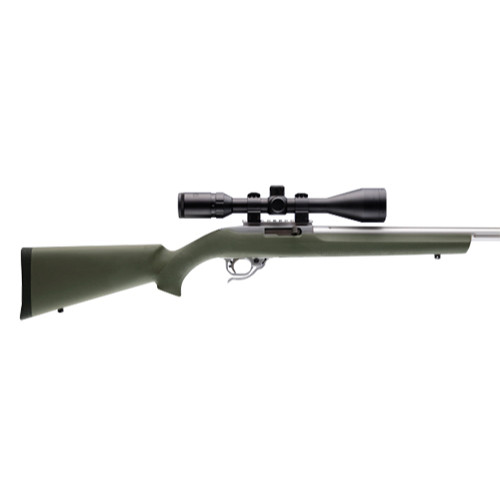 "Hogue OverMolded Rifle Stock Ruger 10/22 .920"" Barrel Channel OD Green 22210 743108222102"