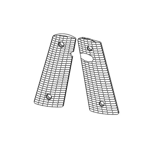 Strike Industries 1911 Standard Size Grips Streamlined Pattern Black PX12 PX-12 700371178918