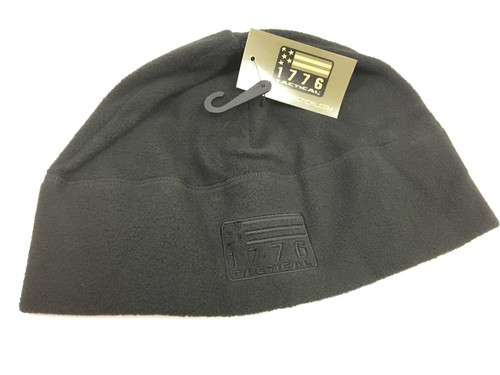 1776 Tactical Black Flag Patrol Watch Skull Cap Beanie Hat Black Fleece