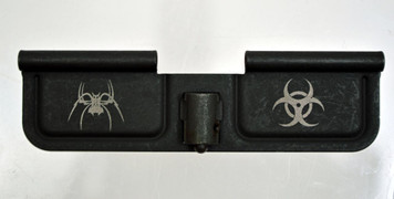 Spike's Tactical Ejection Port Door w/Spider and Bio Hazard Engraving SED7011