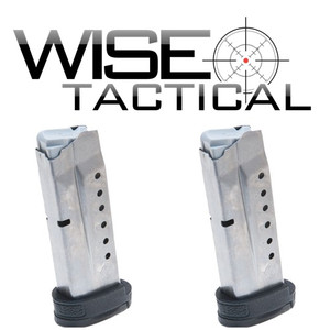 Smith & Wesson 2 PACK M&P Shield 9MM Luger 8RD Magazine With Finger Rest 199362 19936 8 Rd Eight Round MAG 9 MM two combo