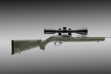 Hogue Ruger 10/22 .920 Diameter Barrel Ghillie Green Overmolded Stock .22LR 22810 0743108228104 .22 Long Rifle 10-22