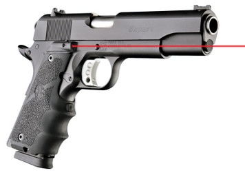 Hogue Lasergrip Colt 1911 Government Rubber Grip With Finger Grooves 45080 0743108450802 .45ACP .45 ACP