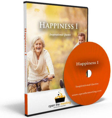 Inspire your audience before the meeting, presentation or training even starts! Happiness quotes will inspire participants and put them in a great mood. Happiness quotes are played to a beautiful soundtrack and stunning high resolutions photos.