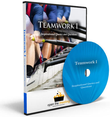 Need a video to uplift and inspire your team or organization? Teamwork I DVD is a collection of teamwork quotes and questions played to a beautiful soundtrack and stunning high resolution photos. This DVD is perfect for playing prior to a meeting, presentation or training as people are walking in.