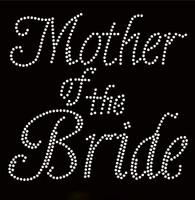 Mother Of The Bride Cursive Rhinestone Transfer Iron on