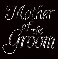 Mother Of The Groom Cursive Rhinestone Transfer