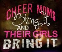 Cheer Moms Bling it and their GIRLS bring it (FUCHSIA Hot Pink) Rhinestone Transfer