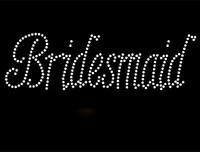 Bridesmaid Rhinestone Transfer Iron on