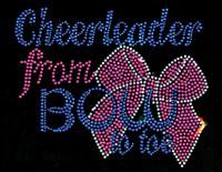 Cheerleader from Bow to Toe Rhinestone Transfer Iron on