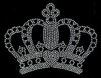 """Crown 6""""(W) x 4.6""""(H) CLEAR Rhinestone Transfer"""
