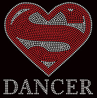 Super DANCER Rhinestone Transfer Iron on