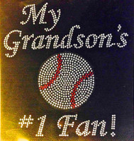 My Grandson's baseball #1 fan Rhinestone Transfer
