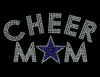 Cheer Mom Star (Blue-COBALT) Rhinestone Transfer