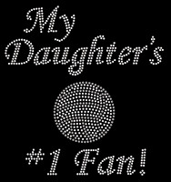 My Daughter's Volleyball No #1 Fan New Rhinestone Transfer