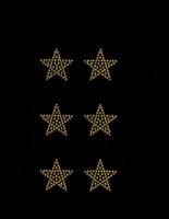 """(Set of 6) 1.5"""" Star (GOLDEN TOPAZ) Rhinestone Transfer"""