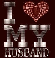 (Large) I love my HUSBAND hubby Rhinestone Transfer
