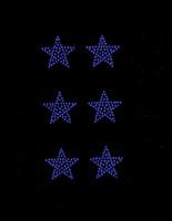 "(Set of 6) 1.5"" Star (COBALT BLUE) Rhinestone Transfer"