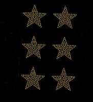 """(Set of 6) 2"""" Star (GOLDEN TOPAZ) Rhinestone Transfer Iron on"""