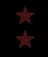 "(Set of 2) 3"" Star (RED) Rhinestone Transfer"