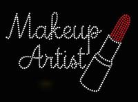 Makeup Artist Lipstick (horizontal) Rhinestone Transfer