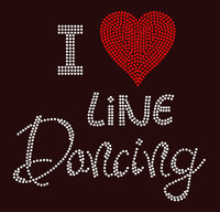 I Love Line Dancing Rhinestone Transfer
